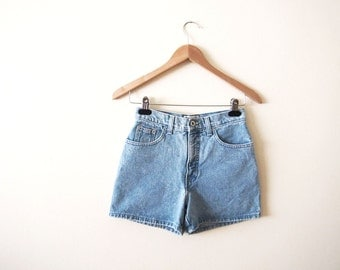 Vintage Denim Shorts - 90s Jean Shorts - High Waisted Shorts - XS-S