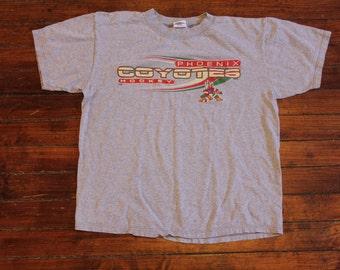 Phoenix Coyotes shirt graphic tshirt gray NHL hockey medium