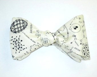 Mens BOW TIE SILK Freestyle Radioactive Scientist Science Physics Physicist Nuclear Self Tie Your Own Bowtie
