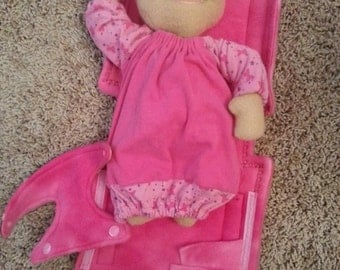 Custom Baby Doll with Diaper Bag and Accessories
