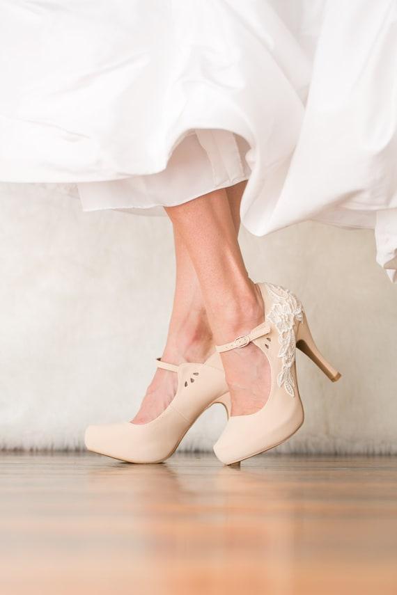 Nude Bridal Heels