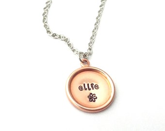 Hand Stamped Jewelry, Personalized Name Necklace, Mommy Necklace