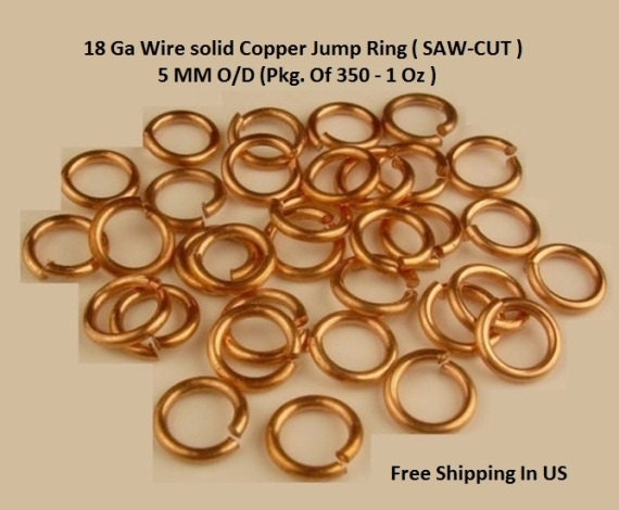 Solid Copper Wire Ampacity : Genuine solid copper jump ring ga wire mm pcs oz