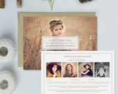 Photography Studio Gift Certificate Template, Photography Gift Card Template - GCT105B