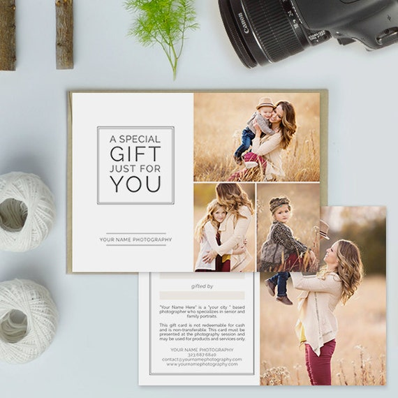 Photography studio gift certificate template photography gift photography studio gift certificate template photography gift card template gct105a yadclub Images