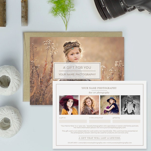 Photography studio gift certificate template photography gift zoom yadclub
