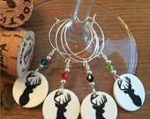 Oh Deer - Set of Four Wine Glass Charms