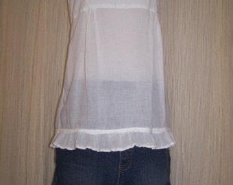 Hag Rags....upcycled denim Hippie skirt.....Maternity....size 10-12....