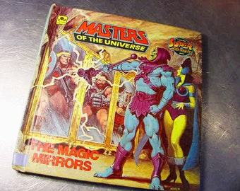 MASTERS of the UNIVERSE Magic Mirrors Hardcover VINTAGE Book