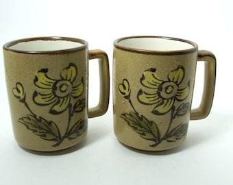 Stoneware Coffee Mugs, Stoneware Tea Mugs, Ceramic Mugs, Stoneware Mugs, Vintage Mugs, Pottery Mugs, Pottery Tea/Coffee Mugs.