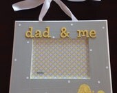 5x7 hanging Dad & Me elephants picture frame