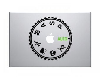 Camera Mode Dial MacBook Skin Decal