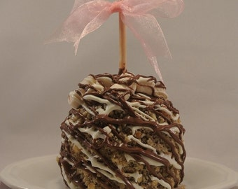 TWO Rocky Road Milk Chocolate Caramel Apples