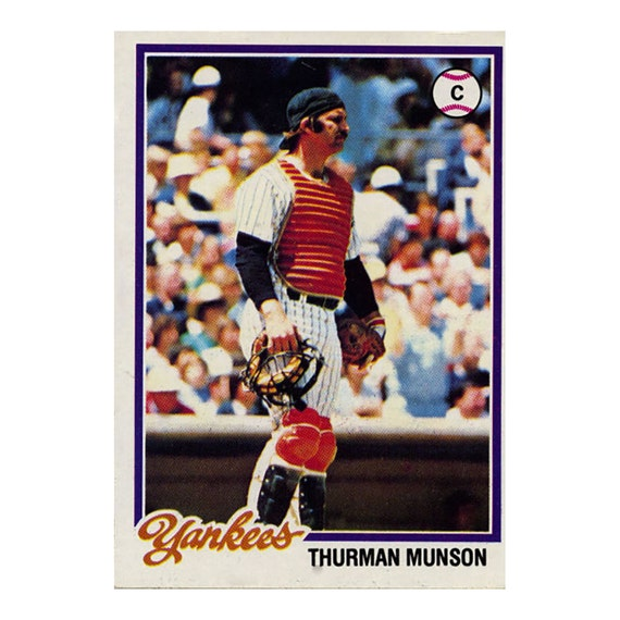 1978 Thurman Munson Topps Baseball Card By Rockpopatoz On Etsy