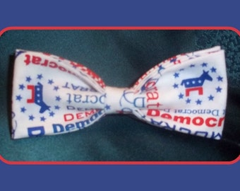 Democrat BowTie - Show Your Party Pride by Wearing a Democratic Bow Tie - U.S.SHIPPlNG NEVER MORE THAN 1.99 for 1, 2 or 10 Bow Ties!!