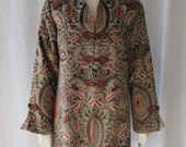 Vintage Asian inspired long Jacket/short Coat Frog Buttons  Soft Surroundings