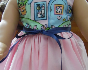 """18"""" Doll Dress - American Girl Handmade Colorful Dress fitting 18"""" Soft Bodied Dolls - Doll Clothes"""