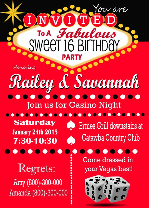 Ideas for invitations with casino theme casino hotel point