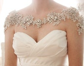 Crystal Bridal Bolero, Rhinestone wedding statement necklace, Shoulder necklace, Style Grace