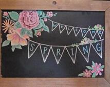 Spring/ Easter Chalkboard
