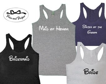 Bridesmaid Tank Tops, Bridesmaid Shirts, Bachelorette Party Shirts, Will You Be My Bridesmaid, Bridesmaid Gifts, Bride Shirt, Bride Gift