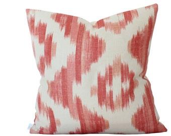 Suzanne Rheinstein Ikat De Lin Pillow Cover in Brick