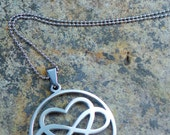 VALENTINES DAY SPECIAL  Love is Infinite Stainless Steel Infinity Heart Pendant