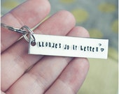 Blondes Do it Better Keychain - Brunettes, Redheads - Valentine's Day Key Ring - Blondes Have More Fun - Snakry Keychain