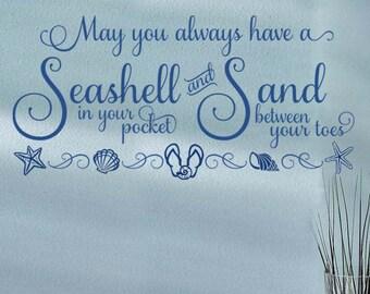 Seashells & Sand- Vinyl Wall Decal