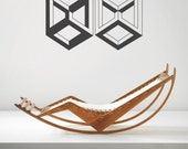 Optical Illusion - Nth dimension vinyl wall decal geometric art removable wall decor (ID: 151019)