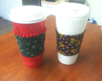 Coffee Cozy * Handmade * Customizable * Christmas
