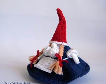 Auntie Gnome PDF knitting patterns. Christmas Ornament. New Year Ornament. New Year Ornament. Christmas Gift. Christmas Decoration. Waldorf