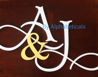 Wooden Letters Wall Letters Wooden Signs Wall Decor His and Hers Wooden Monogram Initials Wall Hanging Letters Room Decor Alphabeticals