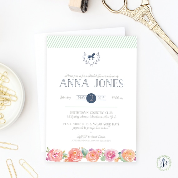 Kentucky Derby Bridal Shower Invitations was very inspiring ideas you may choose for invitation ideas