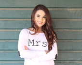 Mrs SHirt. Wife shirt. Wifey Shirt. Mrs TShirt. Bride Shirt. Mrs Sweatshirt. Bride. Future Mrs Shirt. Mrs Plus size Bride