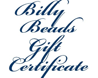 Billy Beads Gift Certificate