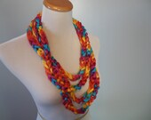 Bright Rainbow Chain Fashion Scarf