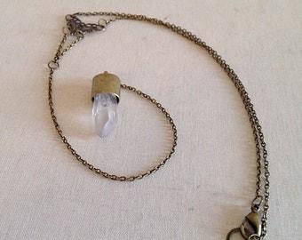 Boho Filigree Crystal Y Necklace