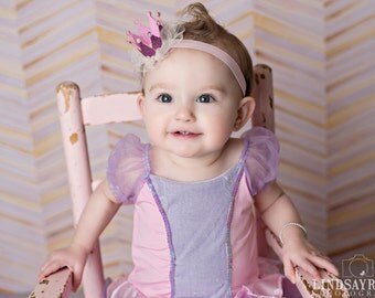 MINI PRINCESS CROWN, Princess Crown Headband, Newborn Baby Crown, 1st Birthday Crown, Pink Crown, Gold Crown, Silver or Red Crown