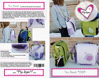 Tiny Slouch BackPack PDF pattern