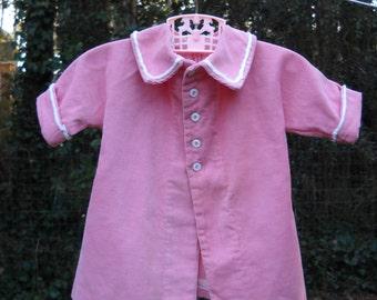Vintage Handmade Little Girl / Baby Girl Pink Corduroy Jacket Coat circa 1960s