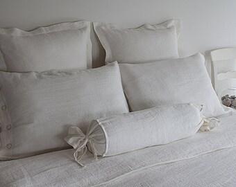 WHITE KING BED set - white duvet set - milk white bed linen - duvet set white - king bedding set - linen king bedding - linen king duvet set