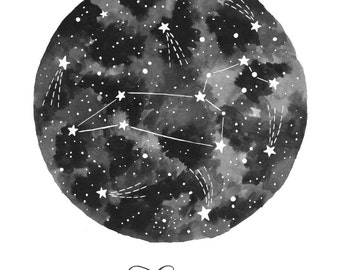 Leo Constellation Illustration - Vertical