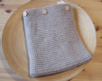 Baby blanket - alpaca, wool & linen - beige - natural baby - ready to ship - free shipping worldwide