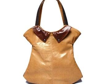 SALE Unique leather bag, novelty elegant bag, handbag leather, gift for women, leather dress bag, handmade leather bag, leather purse