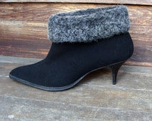 50's Ankle Boots Pointed High Heel Booties