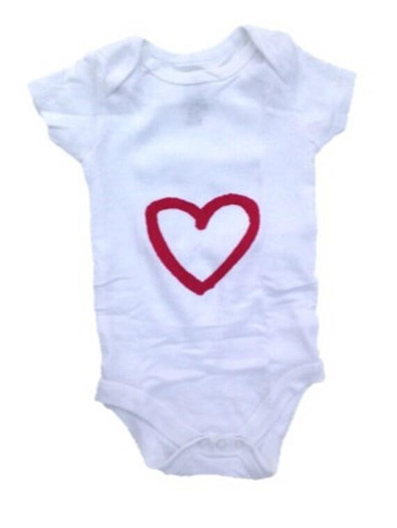Items similar to Baby Bodysuit Crawler Heart esie Baby