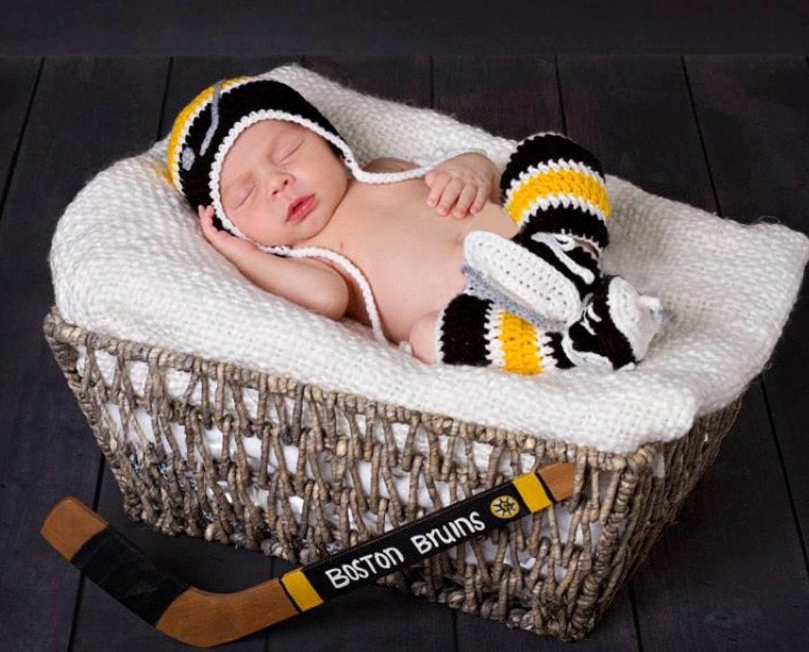 HOCKEY BABY CROCHET Baby Boy Hat Crocheted Hockey Skates Knit