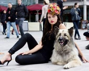 HIBERNATE - Couture Autumnal Headpiece