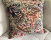 Floral Paisley Pillow Cover 19'' x 19''